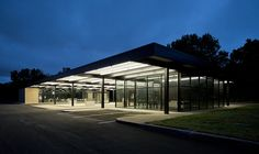 Mies van der Rohe service station by h ssan, via Flickr