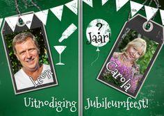 #Uitnodiging.Nieuw in de collectie!!!Schoolbord feest zelf invullen F - Uitnodigingen - Kaartje2go