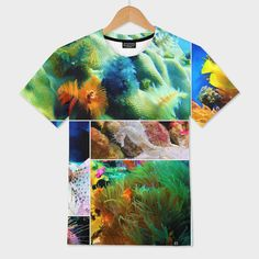 Discover «Underwater Caribbean Sea Collage», Numbered Edition Men's All Over T-Shirt by Elaine Plesser - From $39 - Curioos