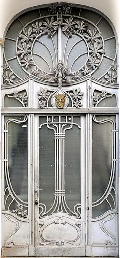 """Berlin - Jugendstil 006"" by Arnim Schulz on Flickr - This is an Art Nouveau Door in Berlin, Germany."