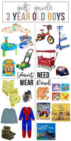 Want, Need, Wear, Read: The Gift Guide for 3 Year Old Boys