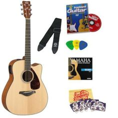 Yamaha FGX700SC Solid Top Cutaway Acoustic-Electric Guitar Bundle with Yamaha Starter DVD, Strap, Strings, Picks, Pick Card, and Polishing Cloth by Yamaha. $299.00. Bundle includes Yamaha FGX700SC Solid Top Cutaway Acoustic-Electric Guitar with Yamaha Starter DVD, Strap, Strings, and Picks, plus pick card and Polishing Cloth.The FGX700SC is an acoustic-electric variation of Yamaha's best-selling FG700S guitar. While the FGX700SC has all the same great features as the FG700S -- s...