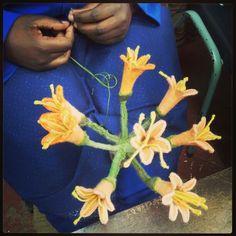Flowers 2014 Textile Sculpture, Allotment, Succulents, Sculptures, Wire, Felt, Textiles, Community, Flowers