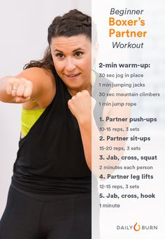 Boxing Workouts: Beginner Parter Routine