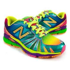 New Balance Rainbow Running Shoes. Okay I would buy these.