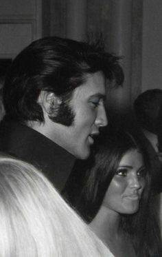 "Elvis and Priscilla in Las Vegas 1969. Elvis wanted so badly for his wife to accompany Him to events and to tour with him; but, her responsibilities as a mother came first (as it should) with Elvis on tour six months out of the year; causing them to grow apart. However, after the divorce, they ""secretly"" spent more time together - which they both preferred; and Elvis still called her every night. True love will find a way!"
