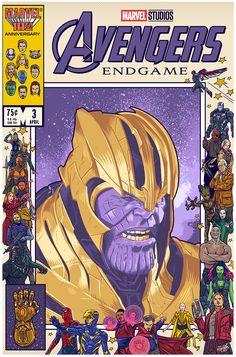 Danny Schlitz Thanos Avengers End Game Thanos Avengers, Avengers Poster, Avengers Art, Comic Poster, Poster S, Comic Art, Poster Prints, Poster Marvel, Vintage Comic Books