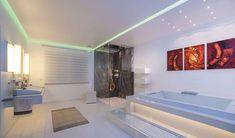 Luxury bathroom - Home Decoration Bathroom Accessories Luxury, Bathroom Design Luxury, Bathroom Floor Plans, Bathroom Flooring, Bathroom Pictures, New Construction, Corner Bathtub, Small Spaces, Tiles