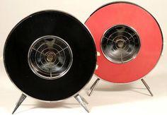 1950s Sofono Atomic Brown & Chrome Electric Heater