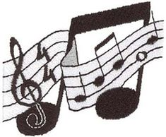Dakota Collectibles Embroidery Design: Music Staff 2.34 inches H x 2.99 inches W