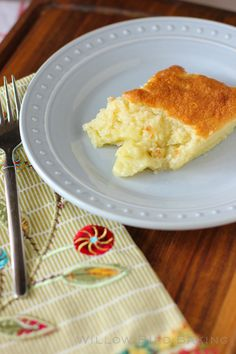 Coconut Pudding Spoon Cake - Willow Bird Baking