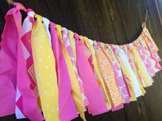 Lemonade Stand Fabric Garland Birthday by AlpineRidgeEvents, $21.00