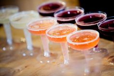 Rustic Wedding Reception Colorful Drinks
