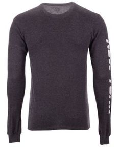 ea00f9790 Authentic Nfl Apparel Men's New York Jets Streak Route Long Sleeve T-Shirt  - Gray S