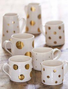13 Chic DIY Gifts: Gold Sharpie Mugs