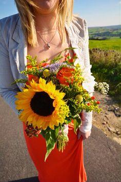 Practice bouquet - autumn wedding flowers DIY