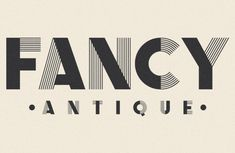 fancy antique display face / design by the infamous foundry #type
