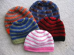 Ravelry: Better Late Than Never Beanies pattern by Kathy North
