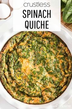 """Not only is this crustless quiche super simple to whip up, but you can easily make customizations with different meats, cheeses and vegetables. It makes a great """"clean out the fridge"""" breakfast or dinner and tastes delicious no matter what combo you choose.#quiche #quicherecipes #eggs #crustlessquiche #breakfast #breakfastrecipes #brunch #brunchrecipes #lowcarb #lowcarbrecipes #lowcarbbreakfast #recipes #iheartnaptime"""