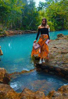 The spa pools in Cardwell are a natural swimming hole in a bright blue colour…