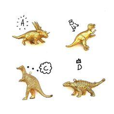 Gold Dinosaur Long Necklace | Etsy Shop: LizzieAndFitz | @lizzieandfitz | #etsy #etsyfashionhunter #etsyfashion #fashion #style #supportsmallbusiness #etsyhunter #dinosaur #gold #handmade