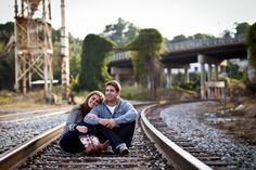 urban engagement shoot in downtown raleigh