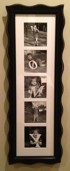 Love this idea with letters to spell out DADDY for Father's Day or birthday
