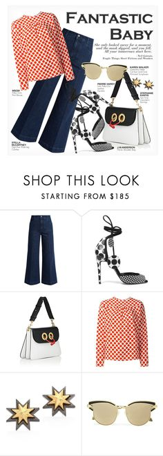 """""""FANTASTIC BABY"""" by paint-it-black ❤ liked on Polyvore featuring STELLA McCARTNEY, Pierre Hardy, MSGM, Stephanie Kantis, Karen Walker and PolkaDots"""