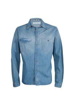 Camisa Jeans Pockets Azul