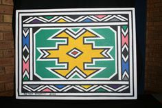 ndebele pattern African Design, African Art, African Wedding Cakes, Afrikaans, Black History Month, Motifs, Hand Bags, Art Forms, Watercolor Paintings