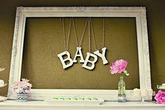 Baby shower decor