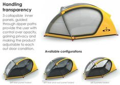 Outlife tent, designed by Alvaro Poblete Poulsen and Florencia Campos Correa.: http://www.yankodesign.com/2009/12/01/tent-life-on-the-singular/