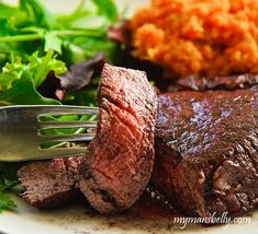 Filet poached in red wine. Then reduce the wine into a fabulous sauce. It was perfect!