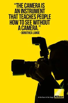 At the heart of the image Nikon! Quotes About Photography, Photography 101, Photography Camera, Photography Equipment, Camera Nikon, Camera Gear, Perfect Camera, Landscape Photographers, Photo Tips
