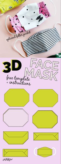 Easy Sewing Projects, Sewing Hacks, Sewing Tutorials, Sewing Crafts, Dress Tutorials, Easy Face Masks, Diy Face Mask, Best Face Mask, Mascara 3d