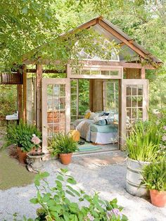 If Rustic Charm is your design style, this fits the bill. The see through roof allows for sleeping under the stars.