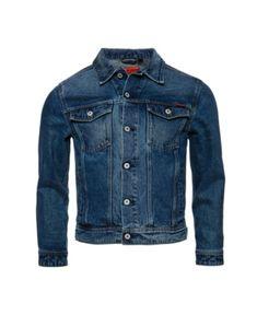 Superdry Highwayman Trucker Denim Jacket In Blue Superdry Mens, Denim Jacket Men, Unisex Baby Clothes, Women's Socks & Hosiery, Jackets Online, Trendy Plus Size, Active Wear, Tee Shirts, Casual
