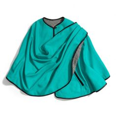 The Asymmetric Double Face Wool Wrap Cape from Coach