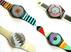 39 Things That Only Girls Who Grew Up In 80s Would Get - I had the Swatch in the top left corner (still have it) and I had the phone in high school.