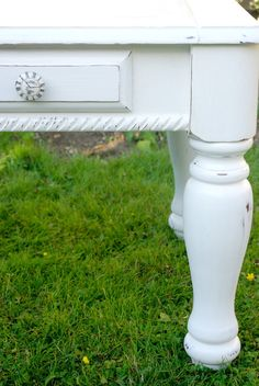 Shabby White End Tables