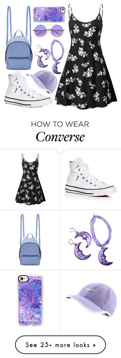 """""""turn up the purple"""" by a-huge-disappointment on Polyvore featuring STELLA McCARTNEY, Converse, Casetify, ZeroUV and NIKE"""