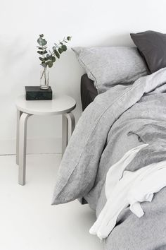 10 Bold Examples Of Monochromatic Interiors // Wake up completely refreshed in a bedroom full of gray tones.