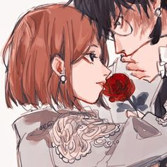Best Anime Drawings, Anime Couples Drawings, Anime Couples Manga, Couple Drawings, Cute Anime Couples, Cute Anime Profile Pictures, Matching Profile Pictures, Cute Anime Pics, Gothic Anime