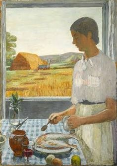 The Cook, by Vanessa Bell,1948. (Vanessa Bell, the painter and interior designer, sister of Virginia Woolf)