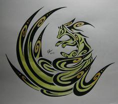 Tribal ninetales by Esmeekramer