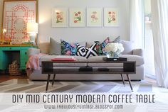 DIY Mid Century Modern Coffee Table -- Material List, Cut List, and Full Step-by-Step!