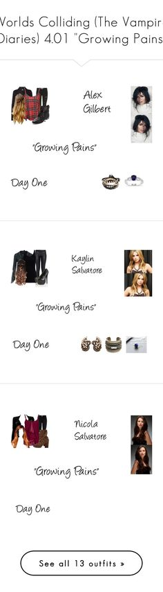 """Worlds Colliding (The Vampire Diaries) 4.01 ""Growing Pains"""" by mysticfalls1997 ❤ liked on Polyvore featuring Parisian, Vero Moda, Sam Edelman, Miadora, Topshop, Elizabeth and James, T By Alexander Wang, Heidi Daus, DANNIJO and Monday"