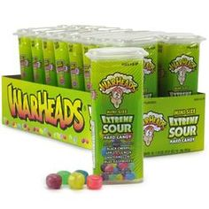 When regular sour candy just doesn't give them the pucker they're looking for hand them one of these super sour candies! Filled with tart fruit flavored candy, each container is an easy open f . Bulk Candy, Hard Candy, Cereal Recipes, Candy Recipes, Homemade Gift Boxes, Sweet Sushi, Candy Drawing, Fruit Nail Art, Taffy Candy