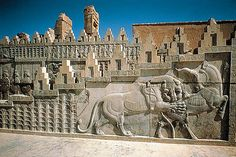 Persepolis - Iran  * The massive palace complex of Persepolis was the glory of the Persian Empire at its peak.  After Alexander the Great sacked the palace in 330 B.C., the ruins disappeared into the sands until archaeologists from the University of Chicago uncovered them in the 1930s.