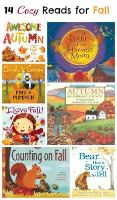 Beautiful books about Fall and Autumn read aloud stories that share all the best of the season! Perfect for preschool, kindergarten and elementary kids -- story time, read aloud sessions, book baskets and reading activities! Fall Preschool, Preschool Books, Book Activities, Preschool Activities, Preschool Kindergarten, Preschool Library, Fall Activities For Toddlers, Kindergarten Reading, Books To Read